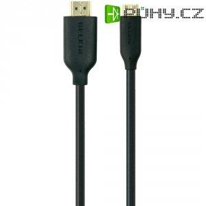 HDMI Belkin High Speed mini kabel s ethernetem, zlaté kontakty, 1 m, černý