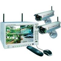 Sada 2 bezdrátových kamer a 4kanálového monitoru Elro, DVR74W, 2,4 GHz