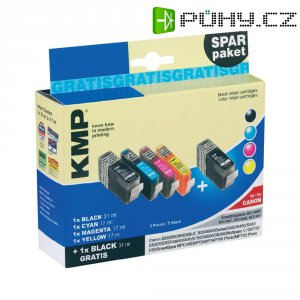 Cartridge KMP C5V, 0957,0050, černá/cyan/magenta/žlutá