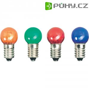 LED žárovka E10, 52221214, 12 V, modrá