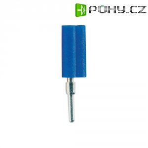 Banánkový konektor Schnepp, zástrčka, rovná, Ø pin: 2 mm, F 2020, modrá