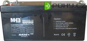 Pb akumulátor MHB VRLA AGM 12V/250Ah trakční