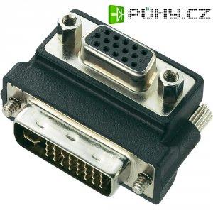Adaptér DVI/VGA, zástrčka/zásuvka, 90°