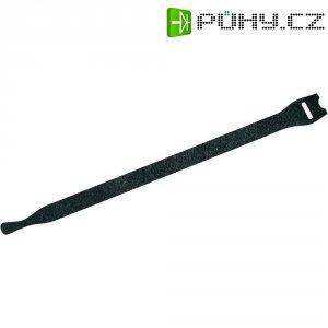 Stahovací páska se suchým zipem, Fastech 801-330C, černá, 200 mm x 7 mm, 10 ks