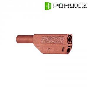 Lamelový konektor Ø 4 mm MultiContact 22.2657-22, zástrčka rovná, červená