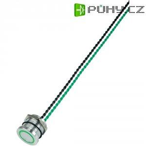Piezo tlačítko, 24 V DC/AC, 0,2 A, IP 68, PS193P10Y01, zelená LED, ploché