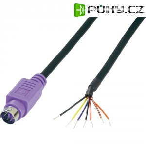 Mini DIN konektor BKL 204097, zástrčka rovná, 6pól., fialová
