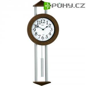 Quarz kyvadlové hodiny - pendlovky Regulator, 20 x 60,5 x 6 cm, tmavě hnědá/stříbrná