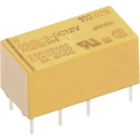 Signální relé DS2Y 2 A, 2x přep.kont., Print Panasonic DS2YS24, 200 mW, 2 A 220 V/DC/250 V/AC , 60 W/62,5 VA