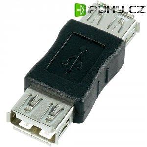 Adaptér USB 2.0, A/A, černý