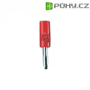 Bezpečnostní konektor, zástrčka rovná, Ø 4 mm, červená