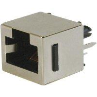 Konektor do DPS ASSMANN WSW A-20142-LP/FS, 8P8C, zásuvka vestavná, černá