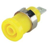 Bezpečnostní zdířka 4 mm - žlutá
