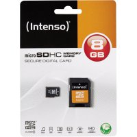 Pamětová karta microSDHC Intenso 8GB, Class 4, SD adaptér