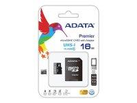 Karta paměťová ADATA MICRO SDHC 16GB CLASS 10 + adaptér AUSDH16GUICL10-RA1