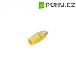Pólová svorka SKS Hirschmann PKI 110 (931714103), (Ø x d) 14 x 42 mm, žlutá