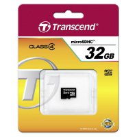 Pamětová karta microSDHC Transcend 32GB, Class 4