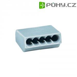 Svorka HellermannTyton, 148-90015, 0,5 - 1,5 mm², 5pólová, šedá