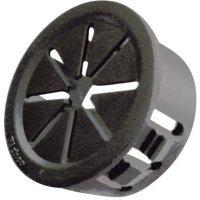 Kabelová průchodka Richco PGSD-1, 6,4 mm, Ø 15,2 mm, černá