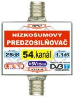 Anténní zesilovač DVB-T 54K 5V 25dB F-F