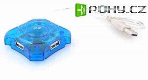 USB HUB 4 portový, bez napájení, typ 481