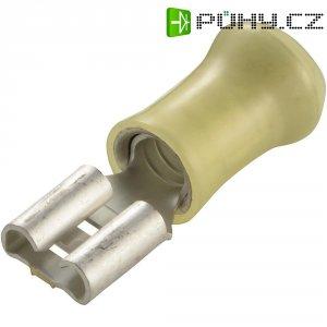 Faston zásuvka TE Connectivity 160314-2 6.3 mm x 0.8 mm, 180 °, částečná izolace, žlutá, 1 ks