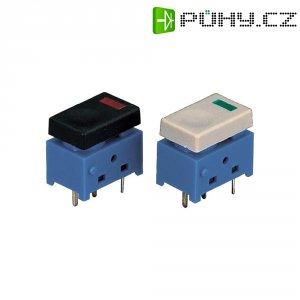 Miniaturní tlačítko do DPS sintegrovanou LED černozelenou