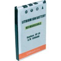 Li-Ion akumulátor pro videokameru CASIO NP20, 3,7 V, 550 mAh, tmavě šedá