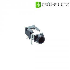 Jack konektor 3,5 mm stereo Lumberg 1503 07, zásuvka vestavná horizontální, 3pól., černá