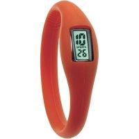 Silikonové náramkové hodinky TFA, červená