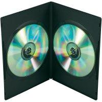 Dvojitý DVD box, 7,5 mm, černá, 5 ks