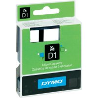 Páska do štítkovače DYMO 45010 (S0720500), 12 mm, D1, 7 m, černá/transp.