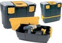 Kufr na nářadí dvoudílný plastový 460x280x455mm