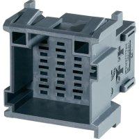 Pouzdro konektoru 12pól. TE Connectivity J-P-T (1-967627-5), zástrčka rovná, 5 mm, šedá
