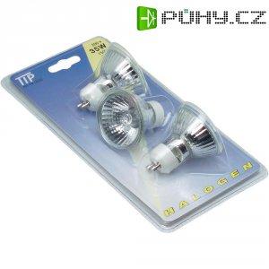 Halogenová žárovka Paulmann, 12 V, 50 W, GU10, Ø 51 mm, stmívatelná, chrom, 3 ks