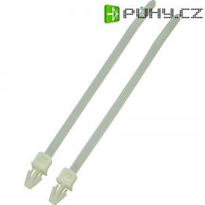 Stahovací pásky s příchytkou KSS PSV130, 132 x 4,8 mm, přírodní