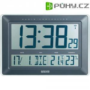Digitální nástěnné DCF hodiny s teploměrem/vlhkoměrem Jumbo Eurochron EFWU 220, KW-9181