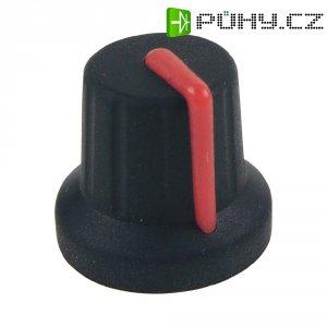Knoflík Cliff FC72602S, pro sérii K86R, 6 mm, s drážkováním, černá/červená