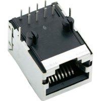 Konektor do DPS BEL Stewart Conn. SS64800-031F, zásuvka vestavná horizontální, Snap-In