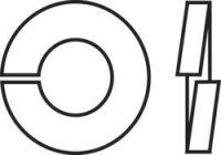 Pérové podložky vnitřní Ø: 2.6 mm M2.5 DIN 127 nerezová ocel A2 100 ks TOOLCRAFT B2,5 D127-A2 194678