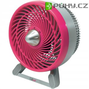 Stolní ventilátor Chillout GF602E4, Ø 18 cm, 31 W, růžová/šedá