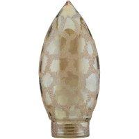 Stínítko pro žárovku, skleněné, svíčka, zlaté