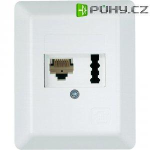 Zásuvka pro TAE/ISDN (RJ45), na omítku, bílá