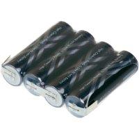 Akupack s pájecími kontakty Sanyo XX AA, 4,8 V, 2400 mAh