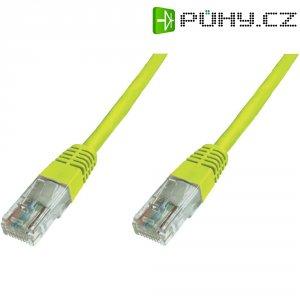 Patch kabel CAT 6 U/UTP RJ 45, vidlice ⇔ vidlice, 10 m, žlutý