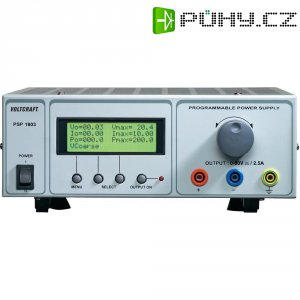 Programovatelný laboratorní síťový zdroj Voltcraft PSP-1803, 0 - 80 VDC, 0 - 2.5 A