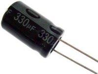 330u/50V 105° 8x16x5mm, elektrolyt.kondenzátor radiální