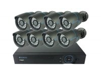Kamera set SECURIA PRO AHD8CHV1 720P 8CH DVR + 8x IR CAM analog