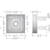 Křemíkový můstkový usměrňovač Diotec KBPC10/15/2502FP, U(RRM) 200 V, 10 A, Plast