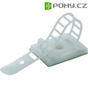 Nalepovací sokl se stahovacím páskem, sokl 25 x 18 mm, délka pásku 64 x 8 mm, přírodní